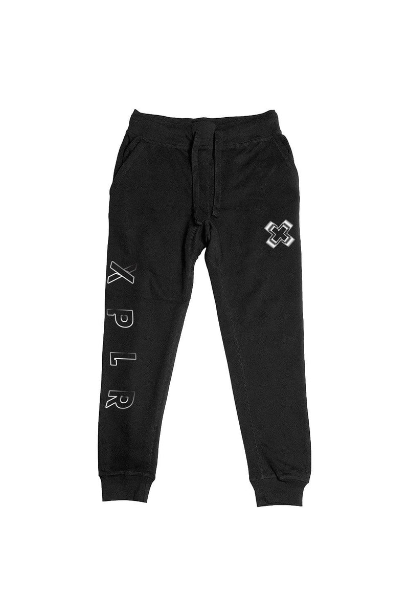 X P L R: Black No Limits V2 Joggers