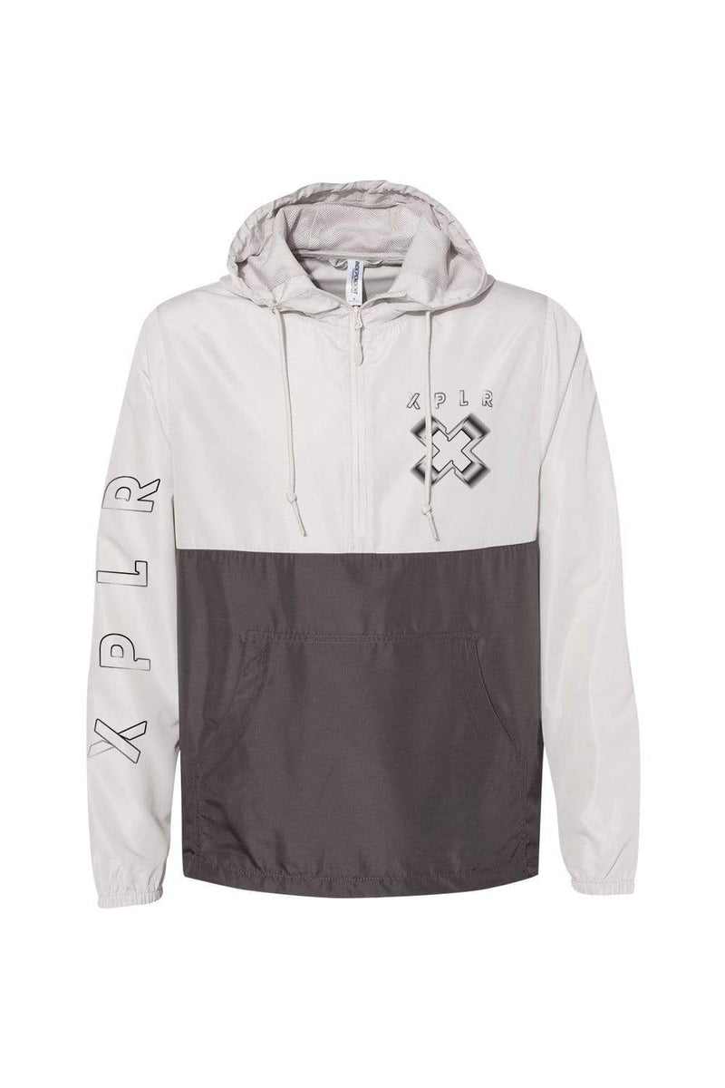 X P L R: No Limits V2 White and Grey Anorak Jacket