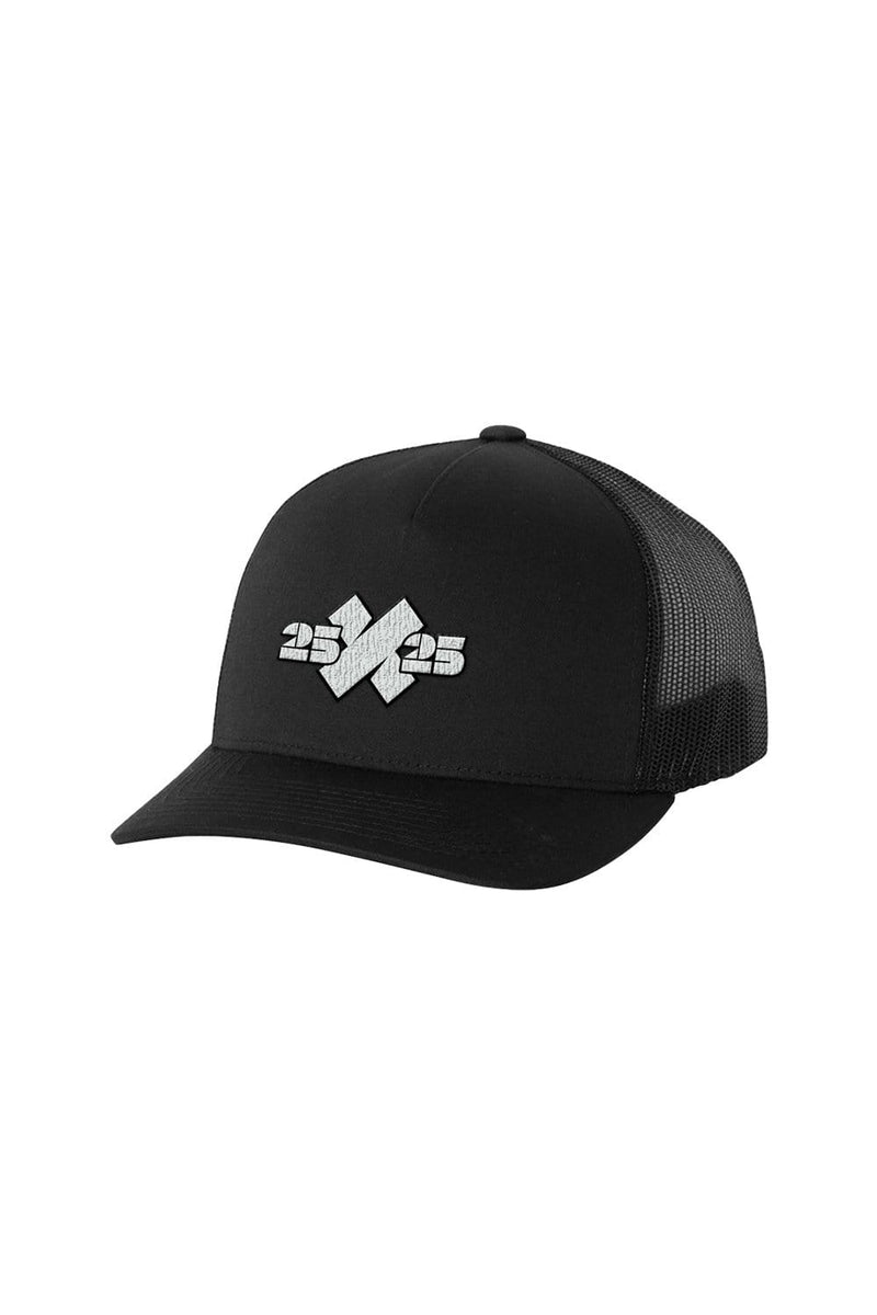 XPLR: 25x25 Black Trucker Hat