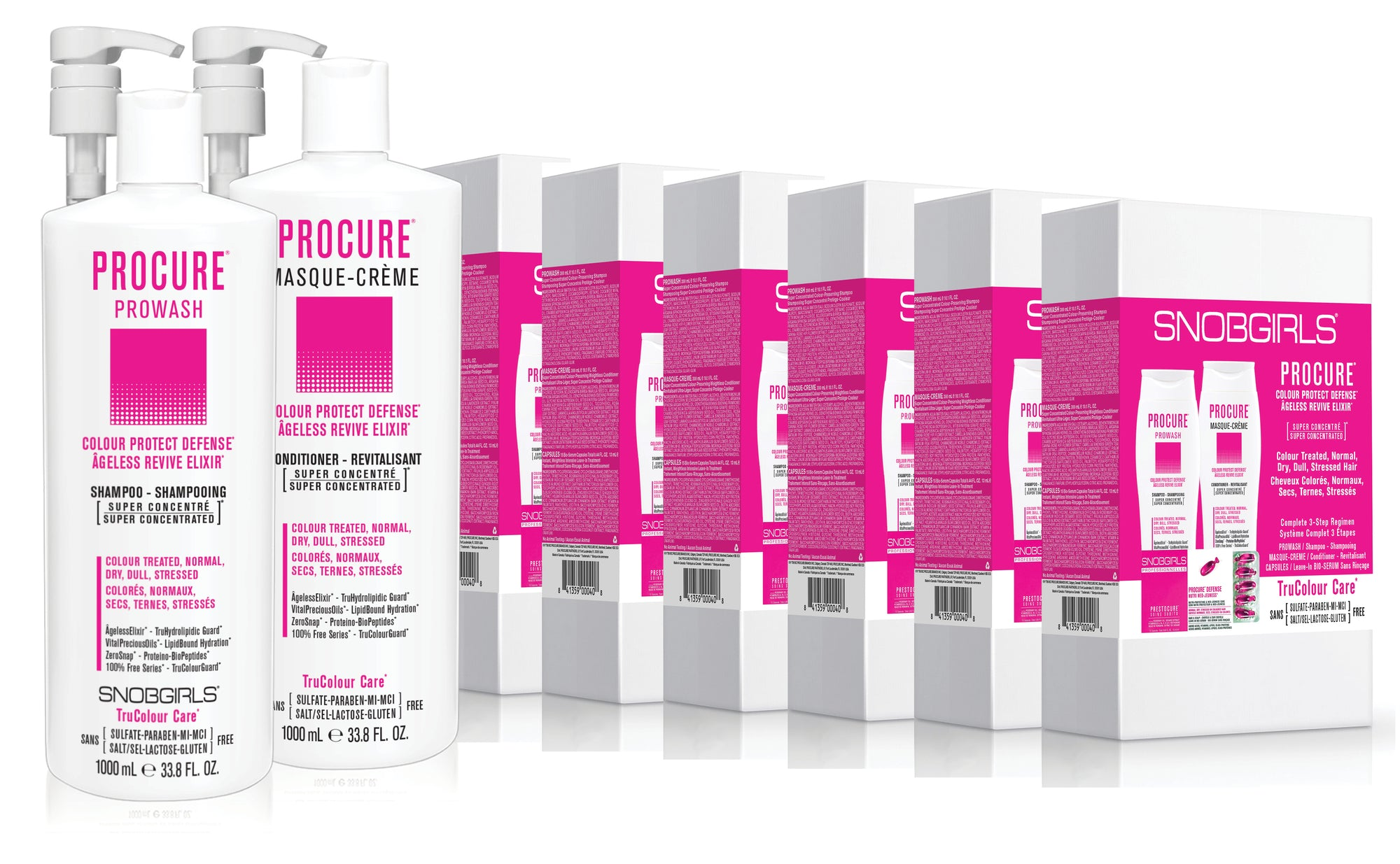 GIFT SETS- 6 X Trio PROCURE Colour Protect Defense + Duo Liters - SNOBGIRLS.com