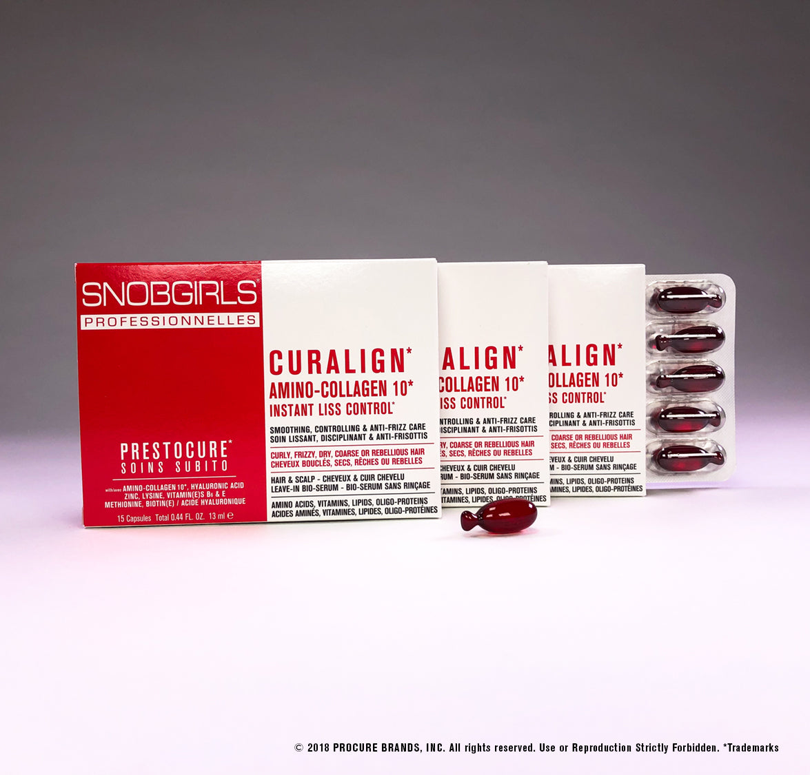 CURALIGN New 3 Packs Gluten Free Hair Serum - 45 Capsules