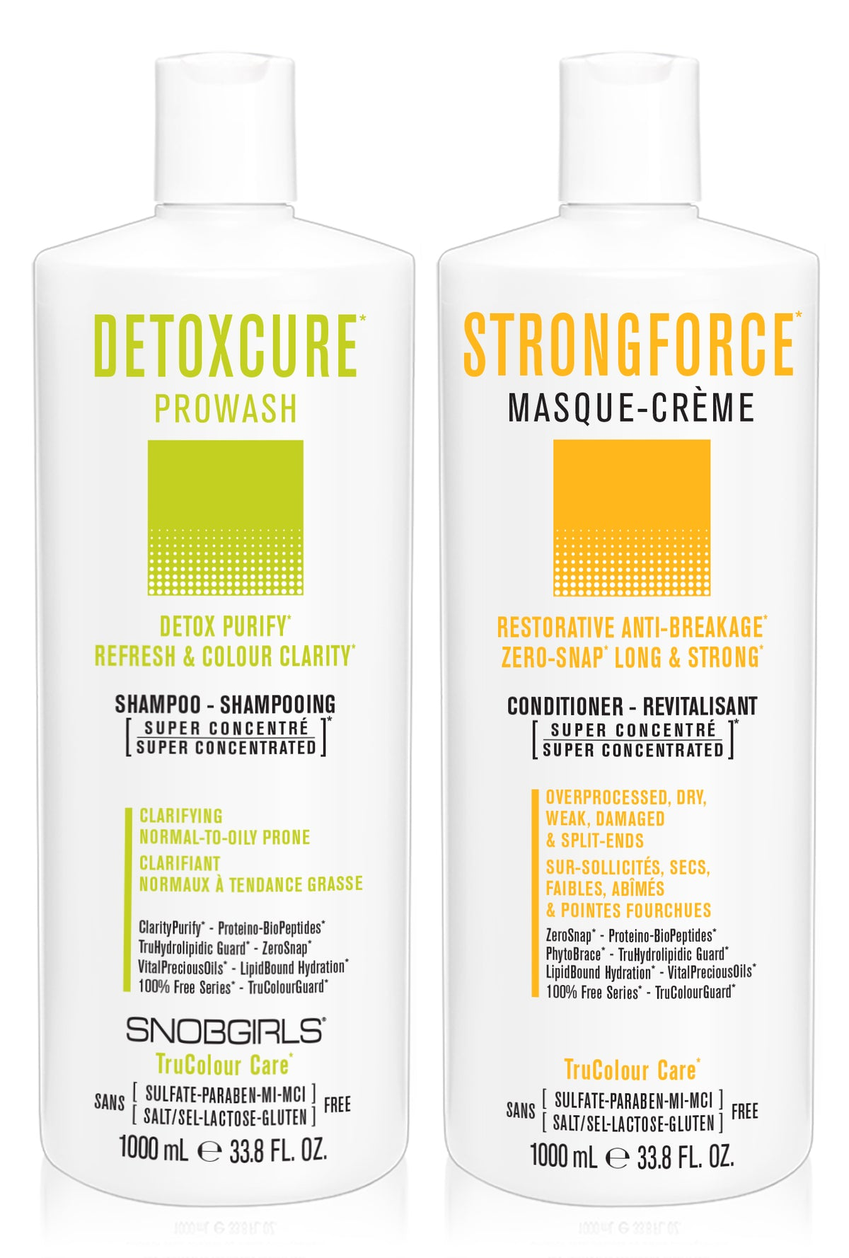 DUO - DETOXCURE Prowash + STRONGFORCE Masque-Creme 33.8 oz - SNOBGIRLS.com