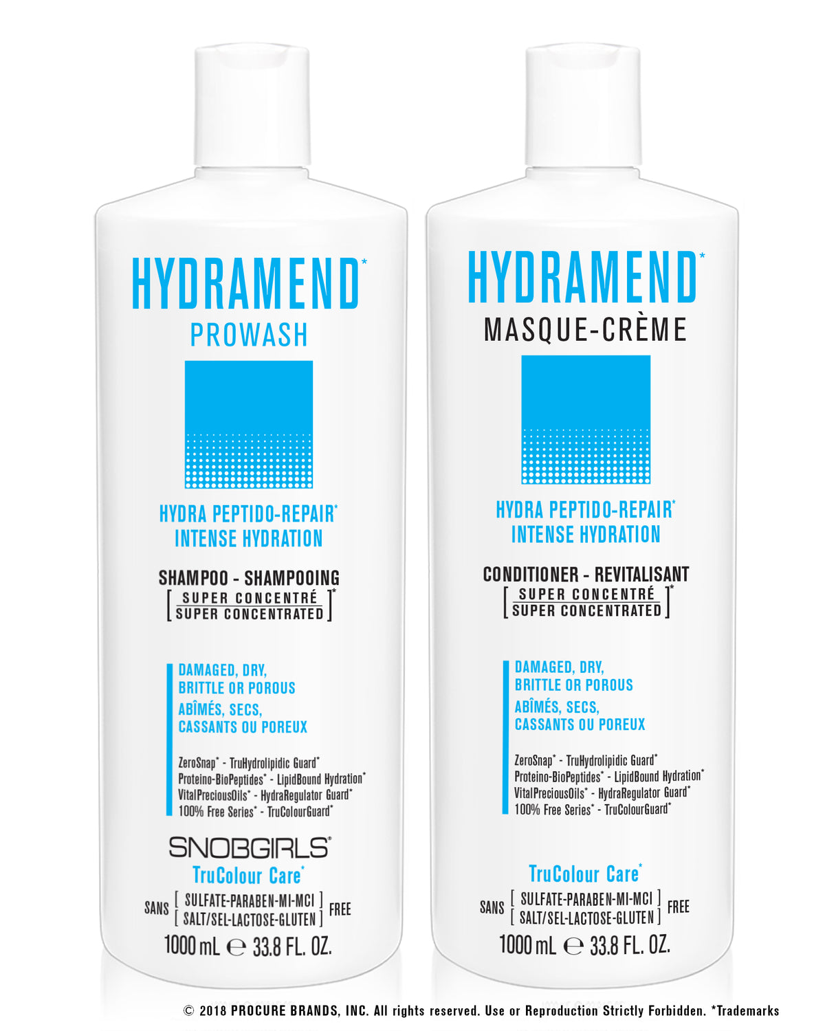 DUO HYDRAMEND - Prowash + Masque-Creme 1000 mL - SNOBGIRLS.com