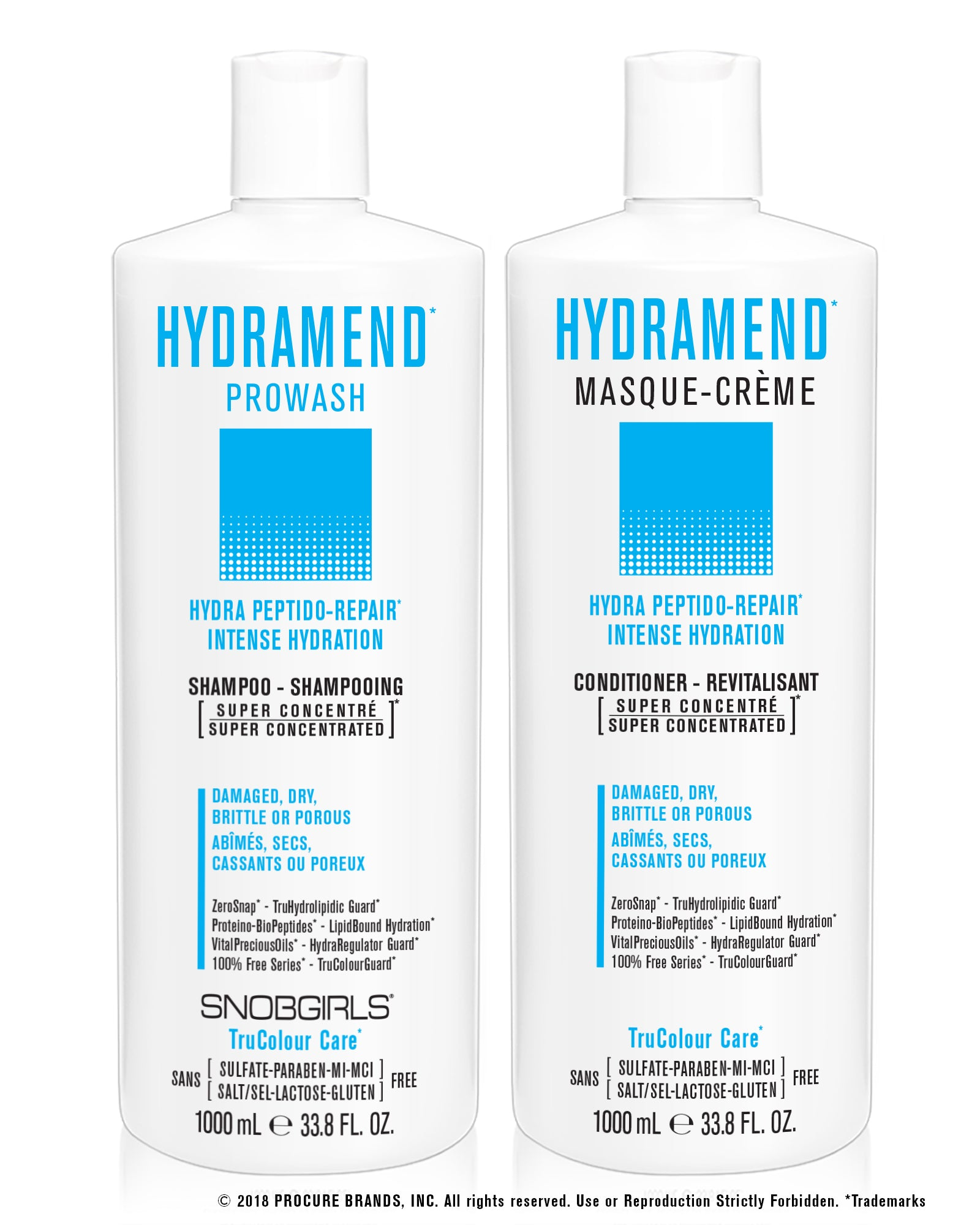 DUO HYDRAMEND Bundle- 1 Shampoo 33.8oz. bundle with1 Conditioner 33.8oz (2 items) Lactose & Gluten Free - SNOBGIRLS.com