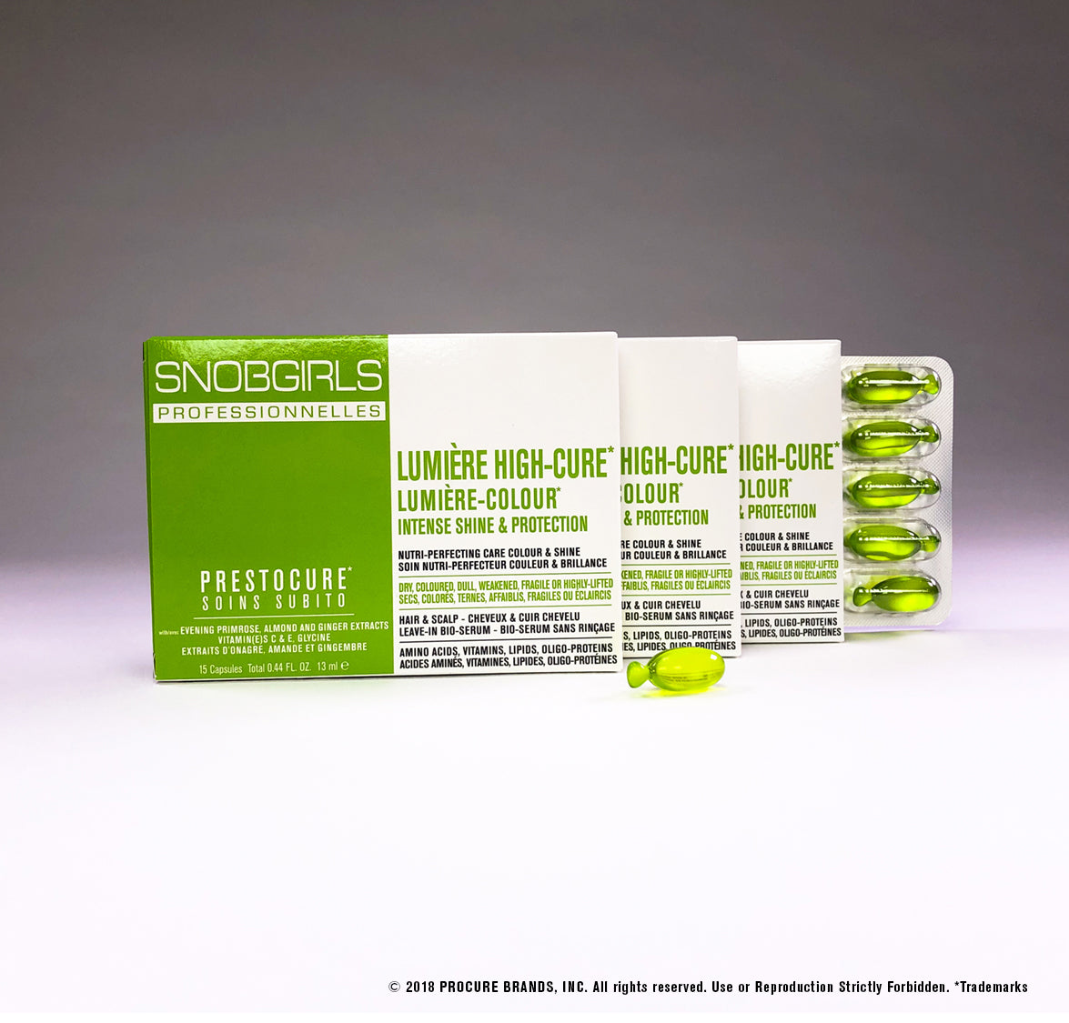 LUMIERE HIGH-CURE New 3 Packs Gluten Free Hair Serum - 45 Capsules - SNOBGIRLS.com