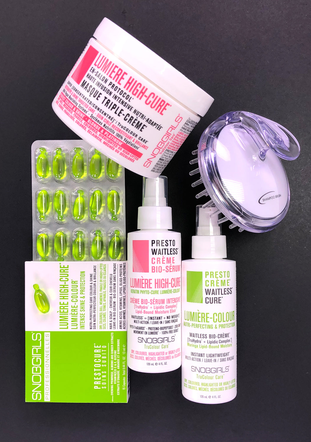 LUMIERE HIGH-CURE - INSTANT TWIST-OFF BIO-SERUM & DEEP HAIR TREATMENTS SET - SNOBGIRLS.com