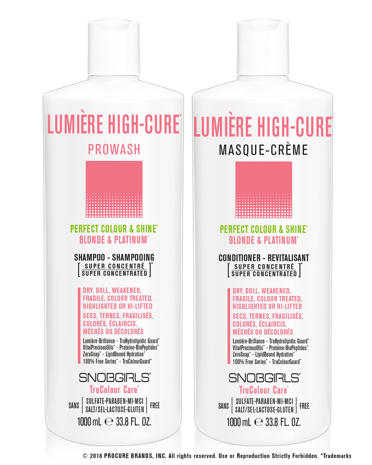 DUO LUMIERE HIGH-CURE - Prowash + Masque-Creme 1000 mL - SNOBGIRLS.com