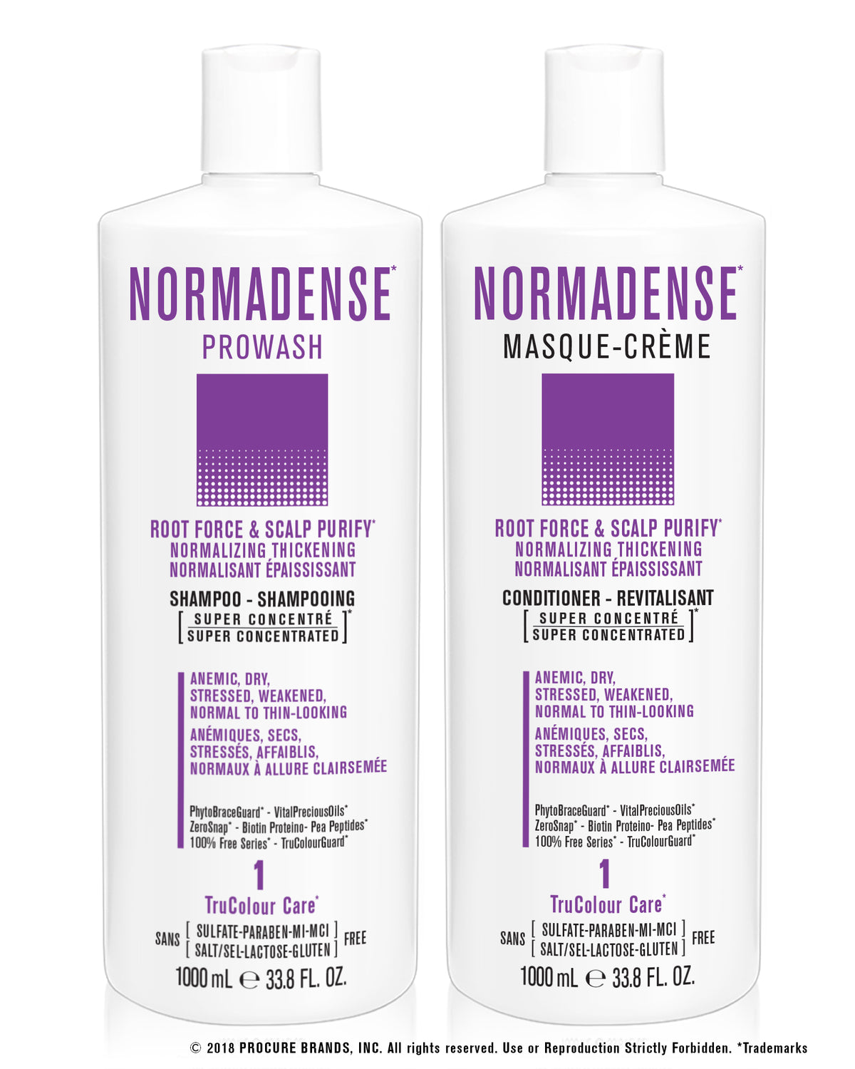 GIFT SETS- 6 X Trio NORMADENSE 1 Root Force & Scalp Purify Normalizing Thickening + Duo Liters - SNOBGIRLS.com