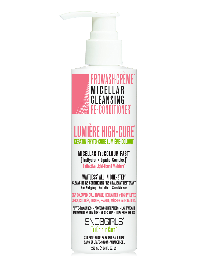 LUMIERE HIGH-CURE PROWASH-CRÈME MICELLAR CLEANSING <P>RE-CONDITIONER