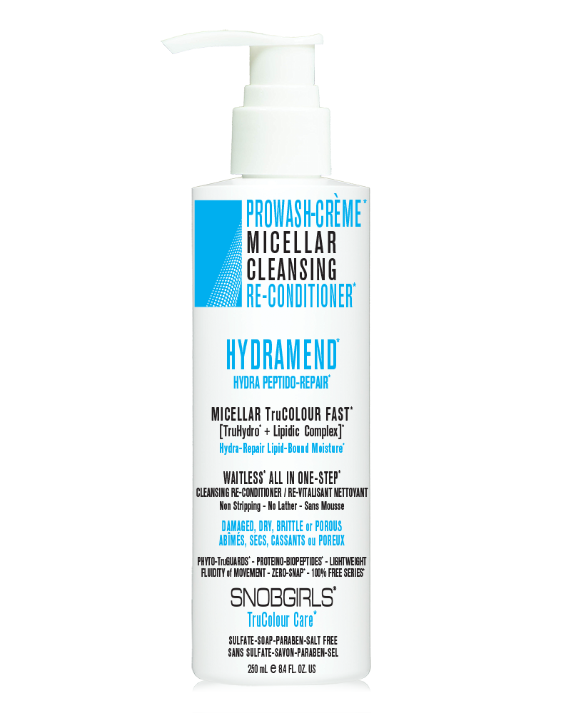HYDRAMEND <p>PROWASH-CREME <p>MICELLAR CLEANSING <p>RE-CONDITIONER