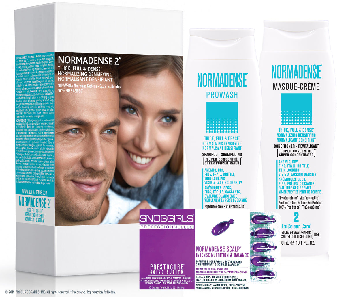 GIFT SETS- 6 X Trio NORMADENSE 2 Thick, Full & Dense Normalizing Densifying  + Duo Liters - SNOBGIRLS.com