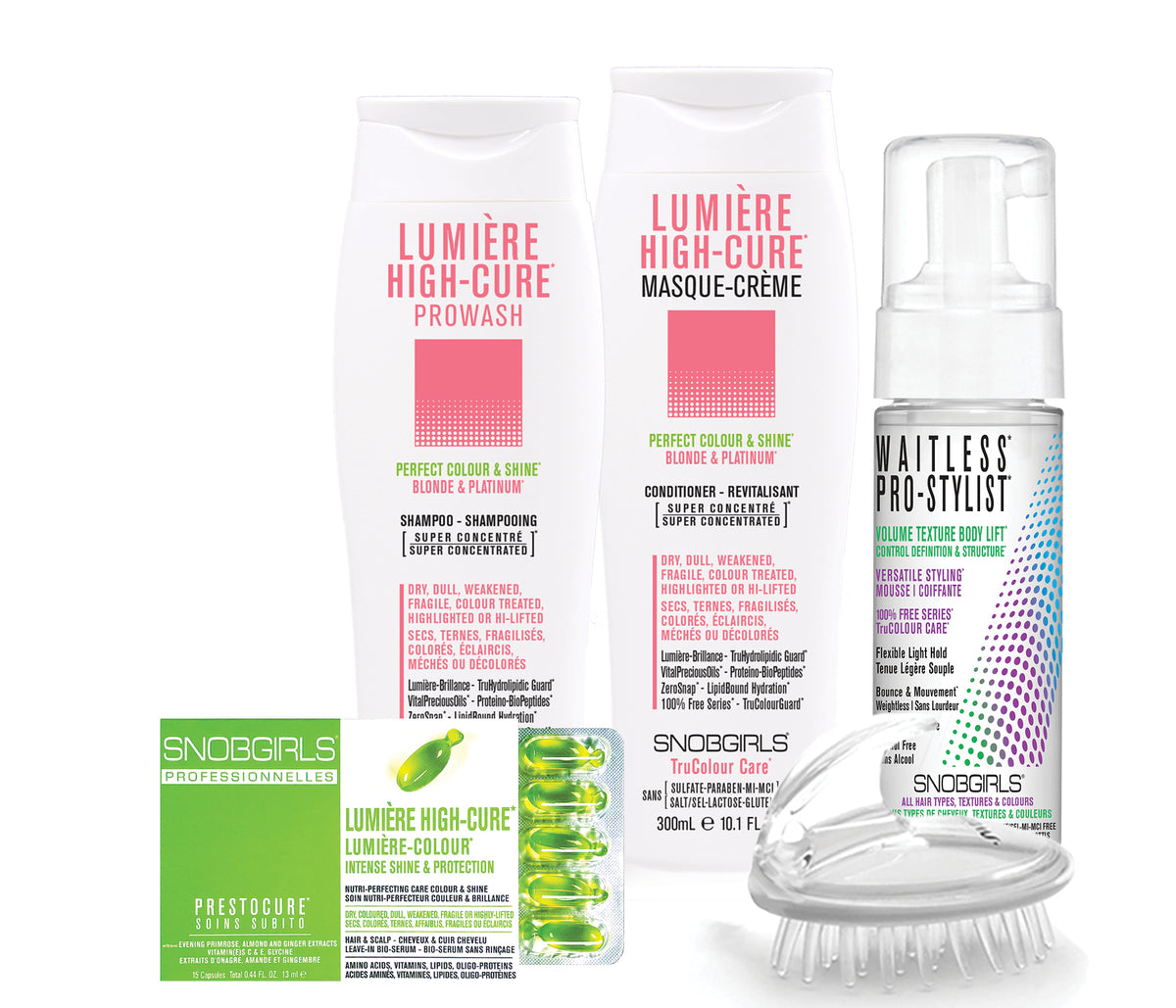 LUMIERE HIGH-CURE TRIO PERFECT COLOUR & SHINE Bundle - SNOBGIRLS.com