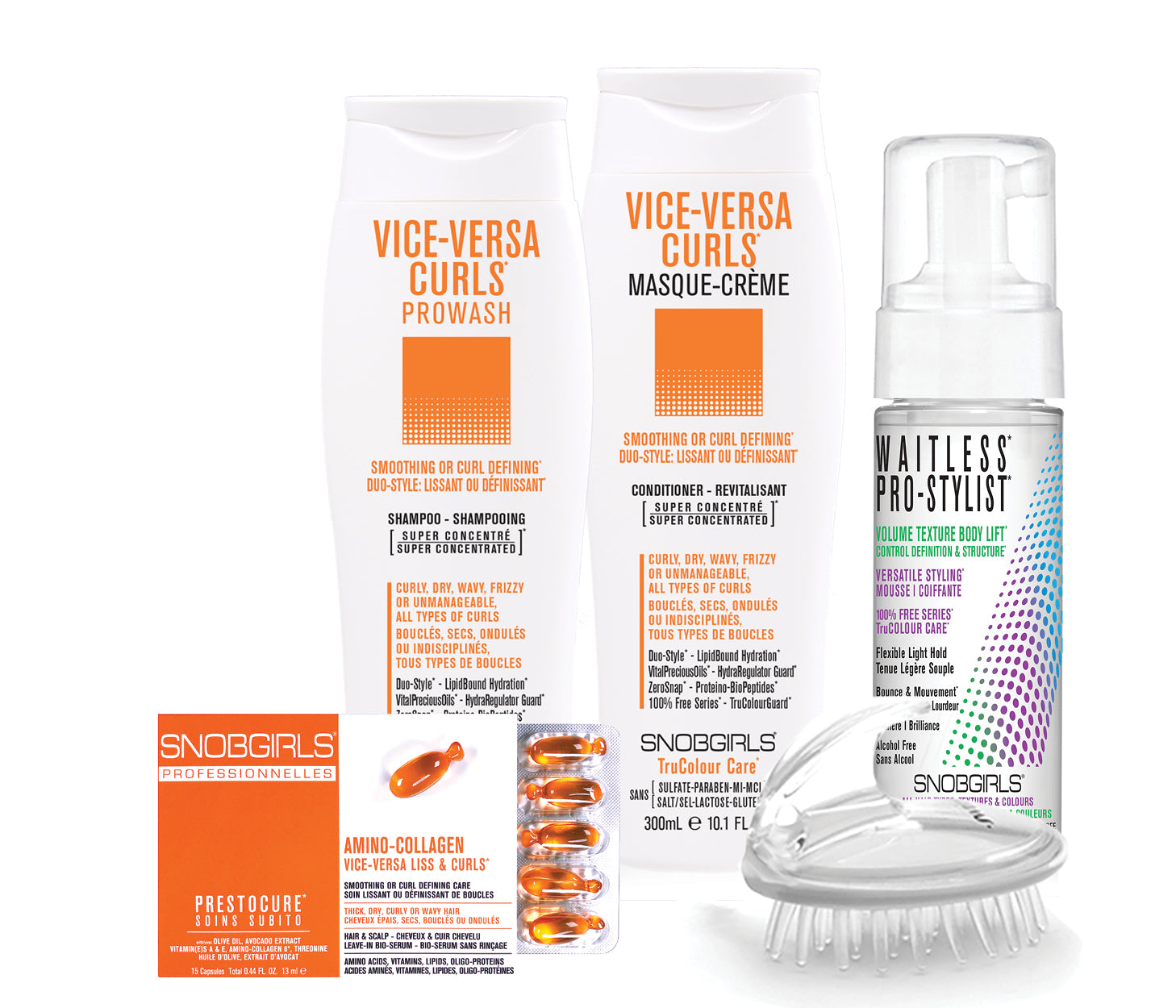 VICE-VERSA CURLS BOX DUO-STYLE: SMOOTHING OR CURL DEFINING Bundle