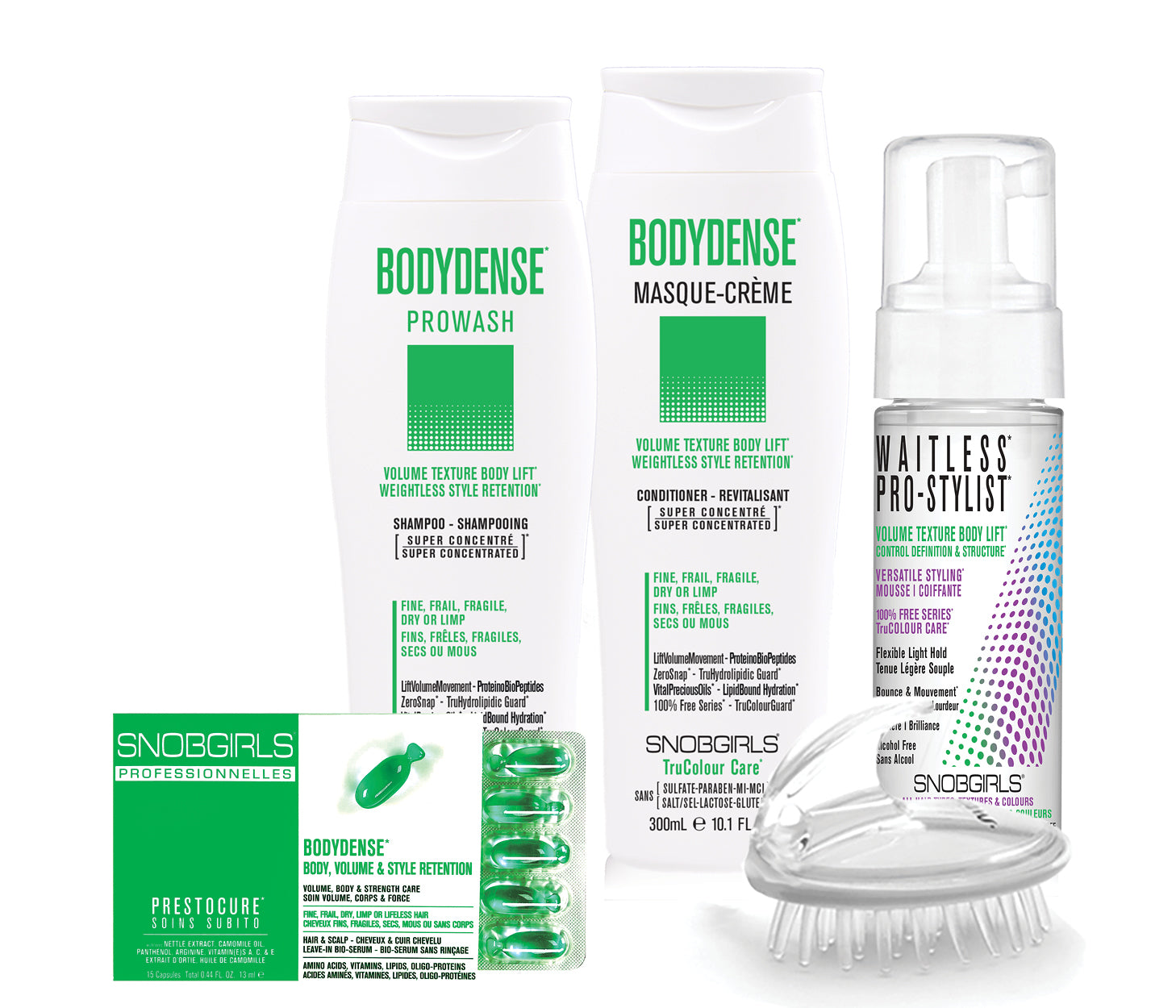 BODYDENSE BOX VOLUME TEXTURE BODY LIFT WEIGHTLESS STYLE RETENTION Bundle