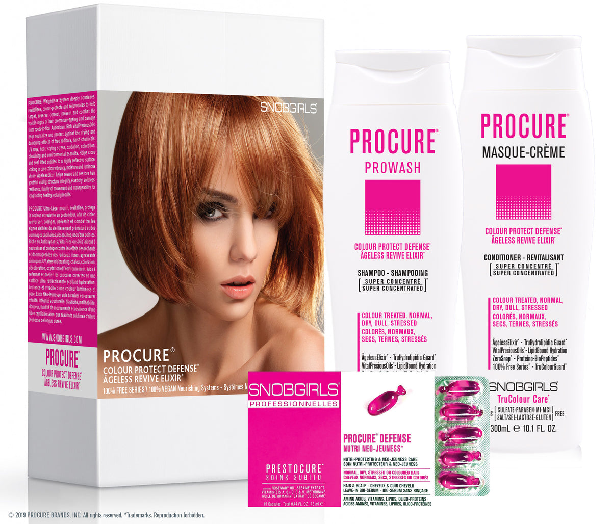 GIFT SETS- 3 X Trio PROCURE Colour Protect Defense + Detoxcure Prowash Liter - SNOBGIRLS.com