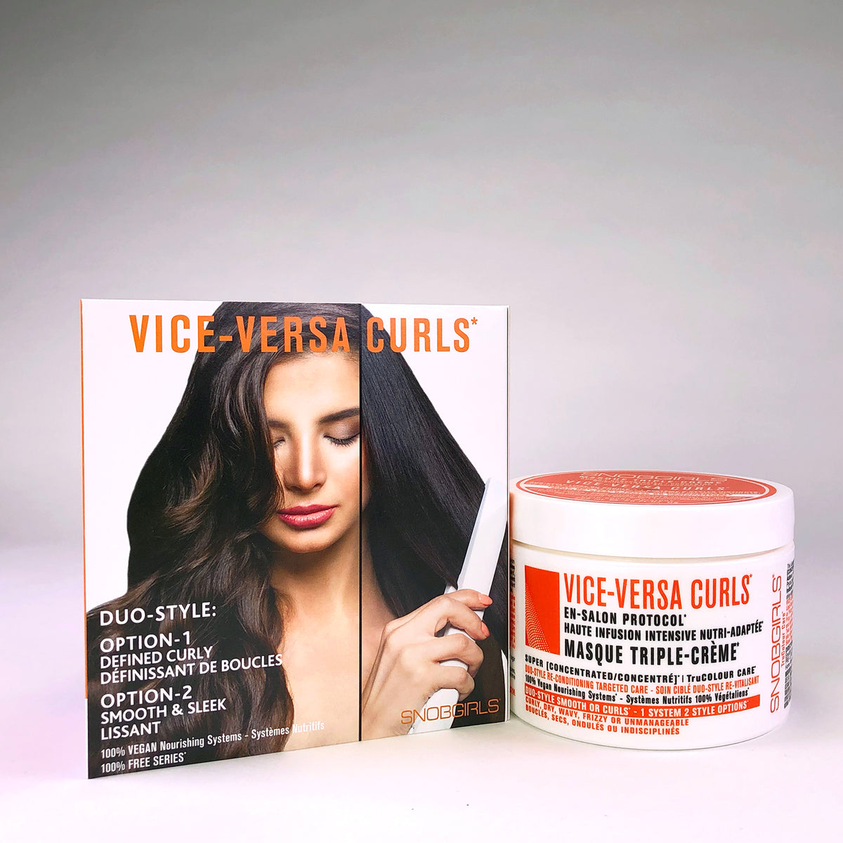 VICE-VERSA CURLS Duo-Style: Smoothing or Curl Defining Triple-Creme Masque - SNOBGIRLS.com