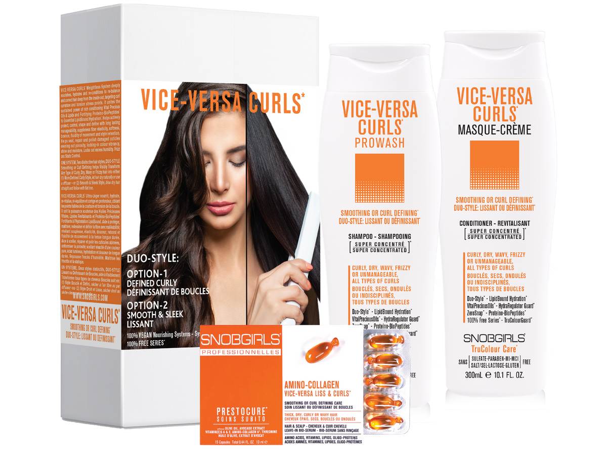 Trio VICE-VERSA CURLS Duo-Style: Smoothing or Curl Defining - SNOBGIRLS.com
