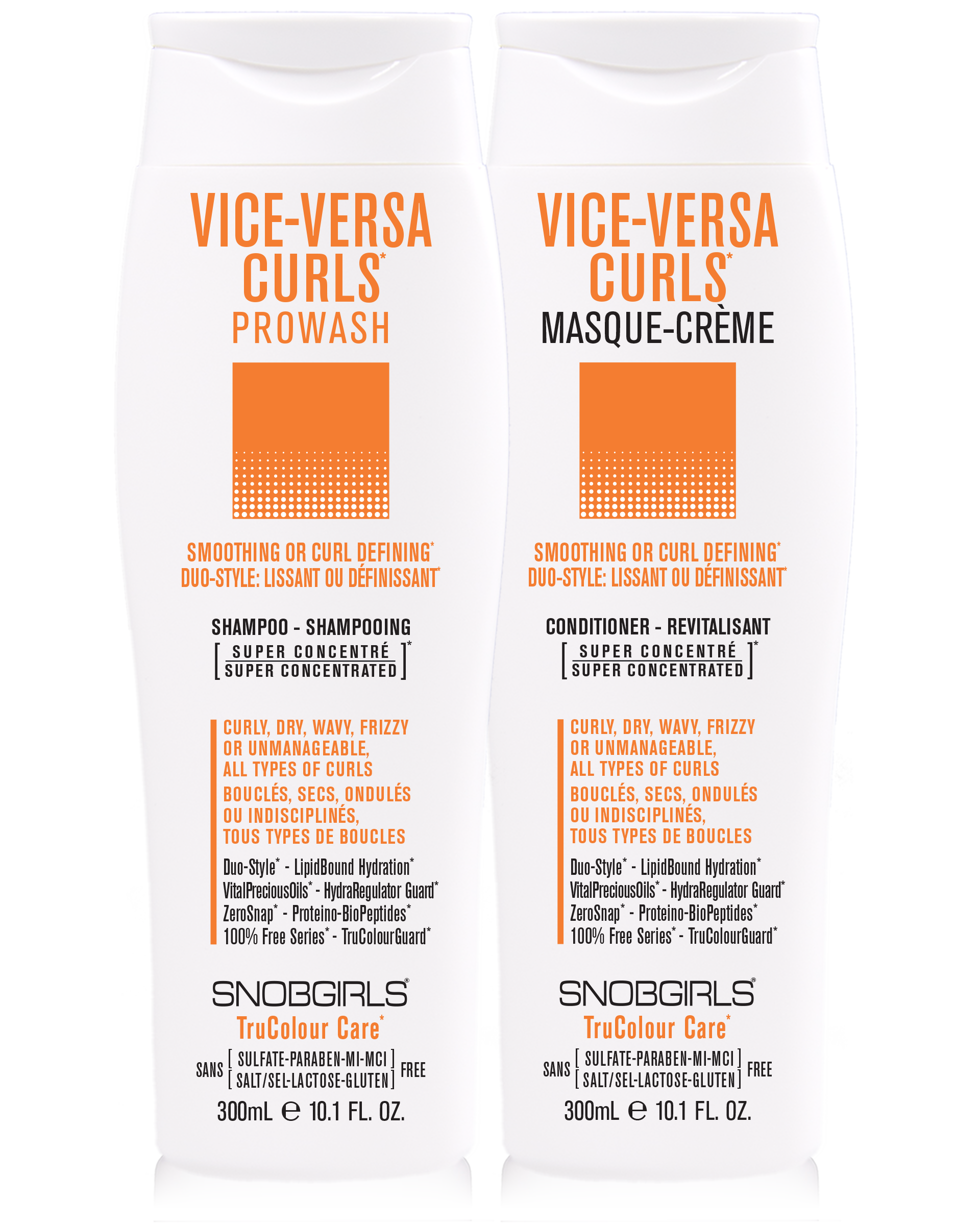 DUO VICE-VERSA CURLS Prowash + Masque-Creme 300 mL - SNOBGIRLS.com