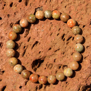 Autumn Jasper Bead Bracelet (BB 1006)