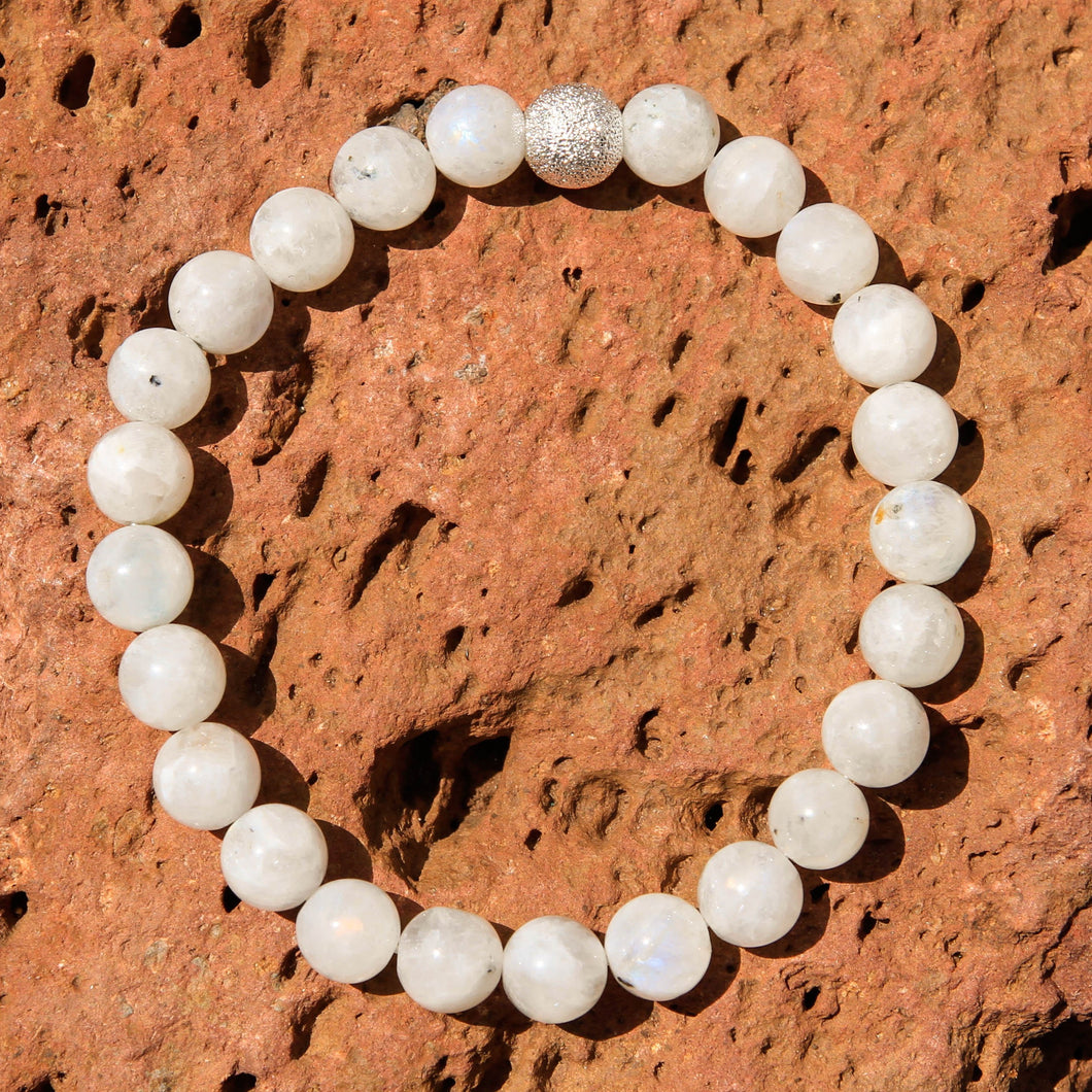 Moonstone Bead Bracelet (BB 1008)