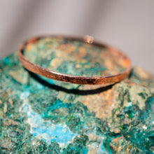 Load image into Gallery viewer, Copper Bangle Bracelet - hand textured (CBB 1002)