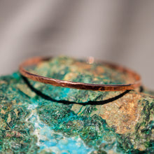 Load image into Gallery viewer, Copper Bangle Bracelet - hand textured (CBB 1005)