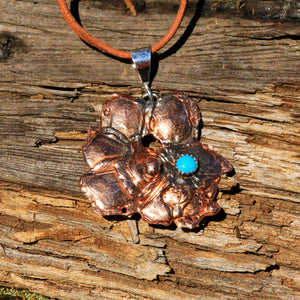 Turquoise and Splash Copper Pendant (CP 1001)