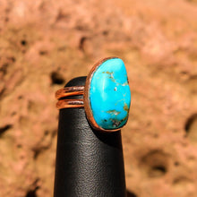 Load image into Gallery viewer, Turquoise Cabochon and Copper Ring (CR 1010)