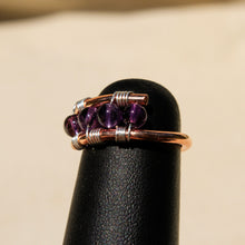 Load image into Gallery viewer, Copper Ring with Amethyst (CR 1005)