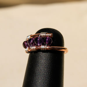 Copper Ring with Amethyst (CR 1005)