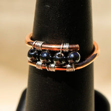 Load image into Gallery viewer, Copper Ring with Hematite Beads (CR 1008)