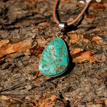 Load image into Gallery viewer, Turquoise Cabochon and Sterling Silver Pendant (SSP 1009)