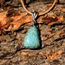 Load image into Gallery viewer, Turquoise (#8 Mine) Cabochon and Sterling Silver Pendant (SSP 1013)