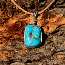 Load image into Gallery viewer, Turquoise Cabochon and Sterling Silver Pendant (SSP 1018)