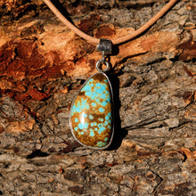 Load image into Gallery viewer, Turquoise (#8 Mine) Cabochon and Sterling Silver Pendant (SSP 1020)