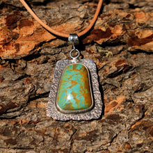 Load image into Gallery viewer, Turquoise (Royston) Cabochon and Sterling Silver Pendant (SSP 1023)