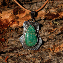 Load image into Gallery viewer, Turquoise Cabochon and Sterling Silver Pendant (SSP 1024)