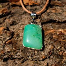 Load image into Gallery viewer, Chrysoprase Cabochon and Sterling Silver Pendant (SSP 1040)
