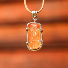 Load image into Gallery viewer, Golden Topaz Crystal and Sterling Silver Pendant (SSP 1044)
