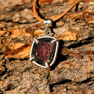 Watermelon Tourmaline and Sterling Silver Pendant (SSP 1048)