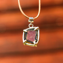 Load image into Gallery viewer, Watermelon Tourmaline and Sterling Silver Pendant (SSP 1048)
