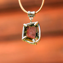 Load image into Gallery viewer, Watermelon Tourmaline and Sterling Silver Pendant (SSP 1049)