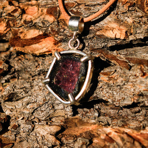 Watermelon Tourmaline and Sterling Silver Pendant (SSP 1050)