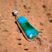 Load image into Gallery viewer, Chrysocolla (Gem Silica) Cabochon and Sterling Silver Pendant (SSP 1054)