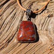 Load image into Gallery viewer, Agate (Plomosa Mtns) Cabochon and Sterling Silver Pendant (SSP 1058)