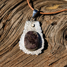 Load image into Gallery viewer, Amethyst Cabochon and Sterling Silver Pendant (SSP 1060)