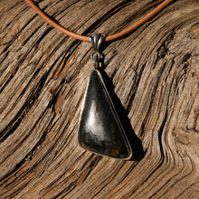 Load image into Gallery viewer, Apache Gold (Healers Gold) Cabochon and Sterling Silver Pendant (SSP 1068)