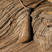 Load image into Gallery viewer, Petrified Wood Cabochon and Sterling Silver Pendant (SSP 1076)