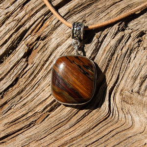 Deschutes Jasper Cabochon and Sterling Silver Pendant (SSP 1080)