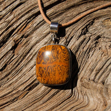 Load image into Gallery viewer, Calligraphy Jasper Cabochon and Sterling Silver Pendant (SSP 1083)